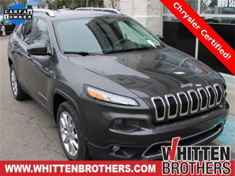CERTIFIED PRE-OWNED 2015 JEEP CHEROKEE LIMITED WITH NAVIGATION