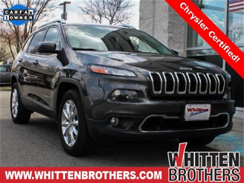 CERTIFIED PRE-OWNED 2016 JEEP CHEROKEE LIMITED WITH NAVIGATION & 4WD
