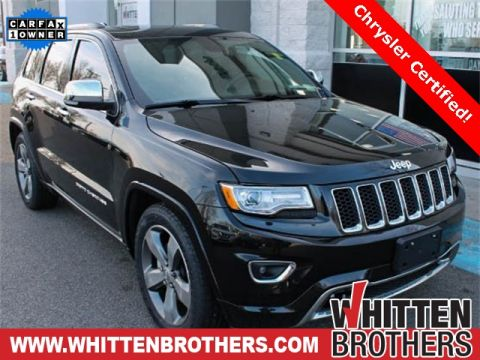 CERTIFIED PRE-OWNED 2015 JEEP GRAND CHEROKEE OVERLAND WITH NAVIGATION & 4WD